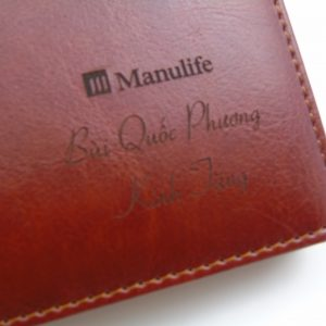 Sổ da A5 gáy còng in logo - Manulife