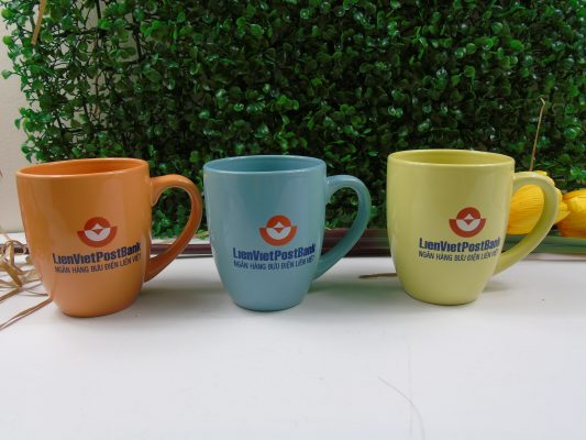 Cốc sứ - Quà tặng in logo Liên Việt PostBank