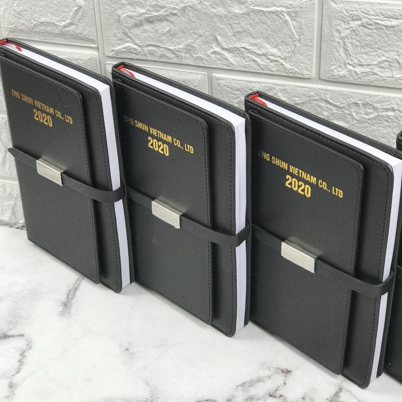Bộ quà tặng 2 sản phẩm Sổ da + Bút ký