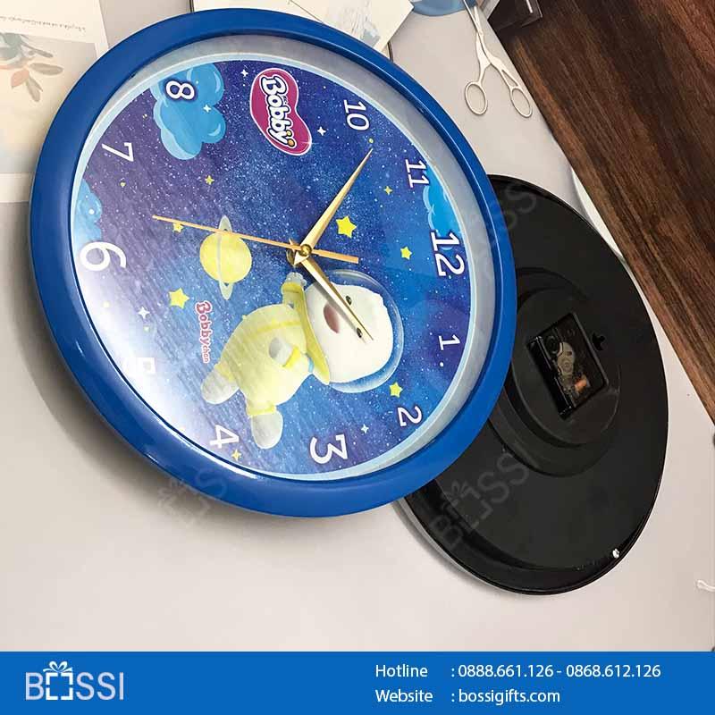 Đồng hồ quảng cáo in logo Bobby Unicharm