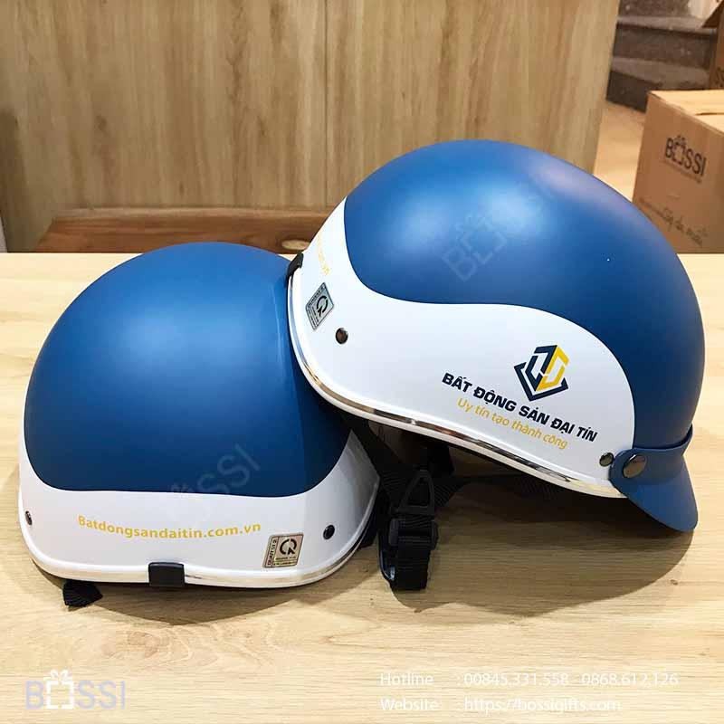 Mũ nón bảo hiểm logo Bất Động Sản Đại Tín